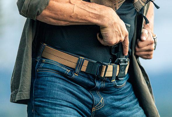 Belt. Pants. Gun. Done.