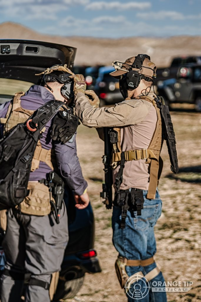 airsofters getting geared up to play