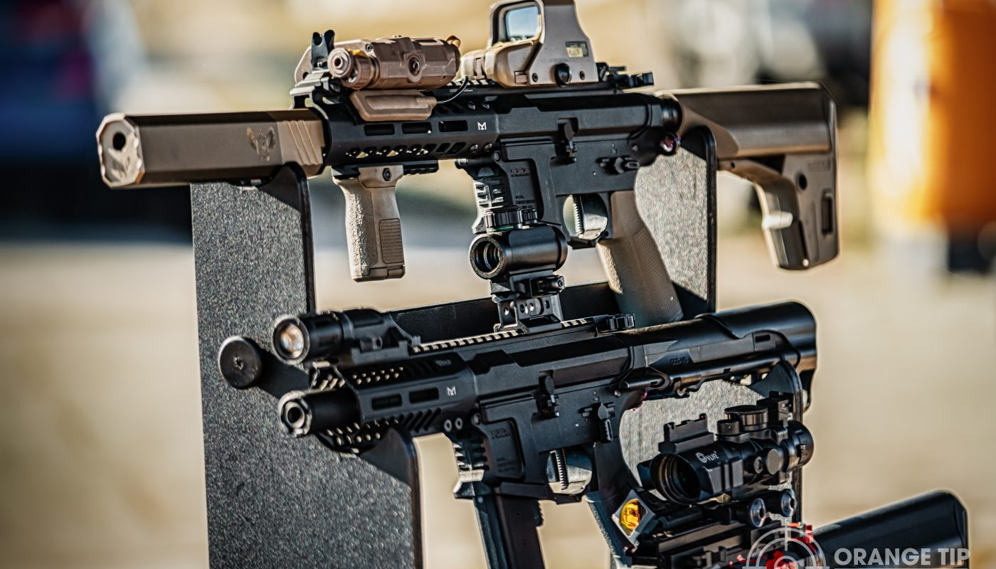 Airsoft rifles at DFE Battle for LA Airsoft Event, George AFB