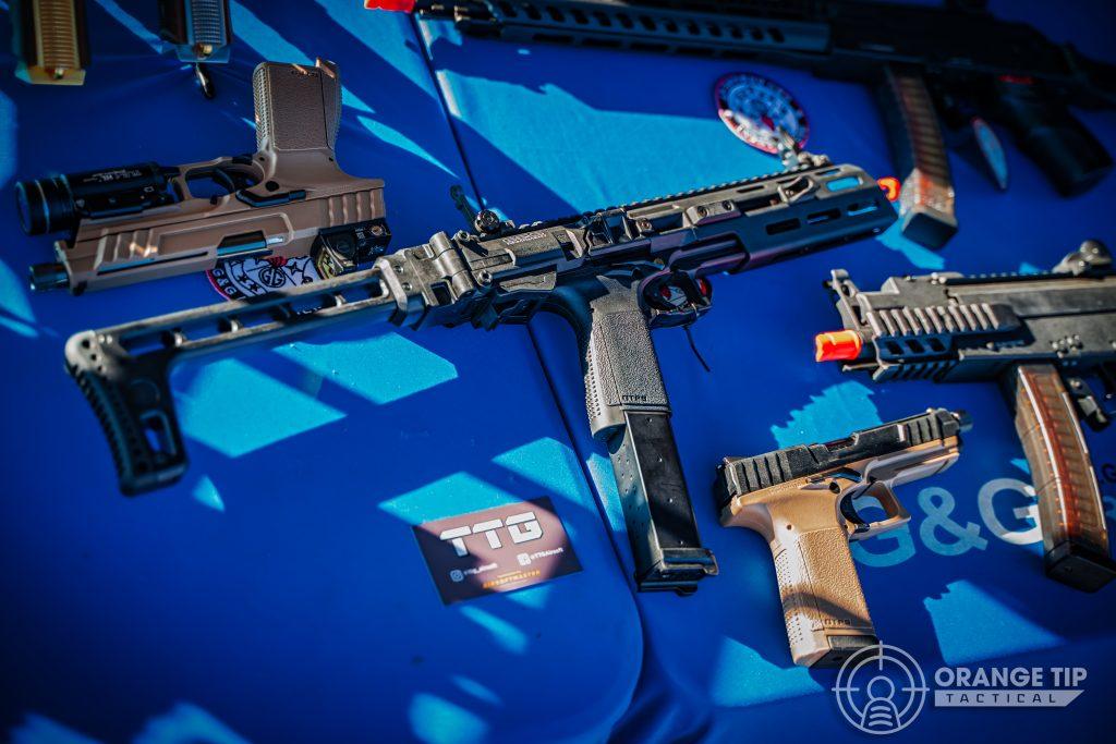 a selection of G&G Armament airsoft guns