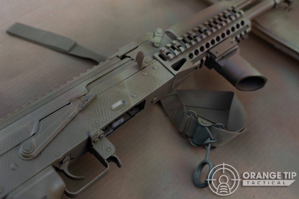 LCT AK-74M with Olive Drab Snakeskin Applied