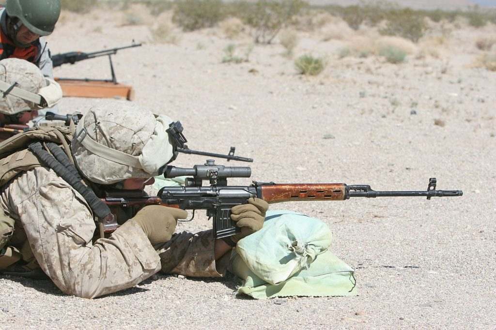 US Marine using a Dragunov