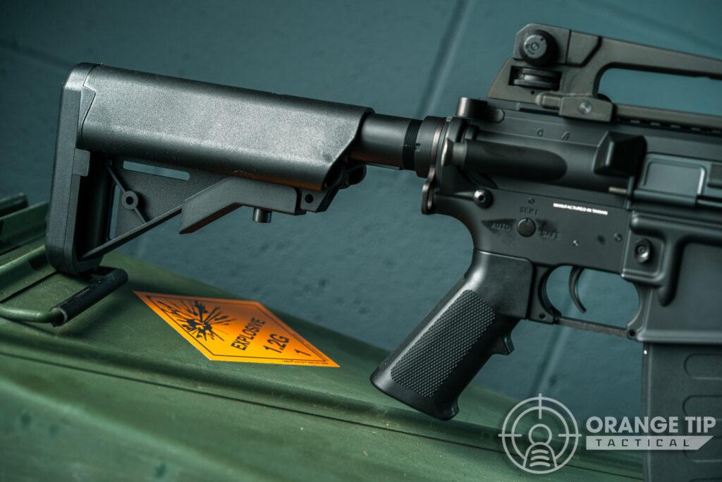 8. KWA KM4A1 AEG Stock and Pistol Grip