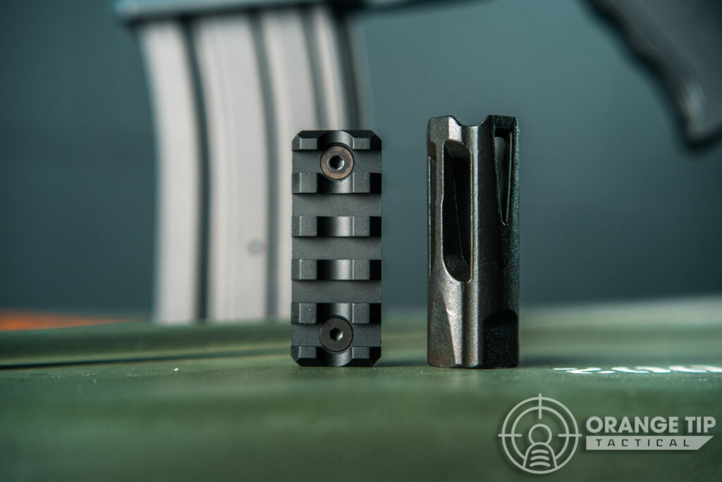 24. Krytac Trident SPR MKII Metal Muzzle Device and Pic Rail Segment