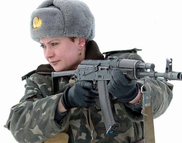 Russian Soldier and AK-74m